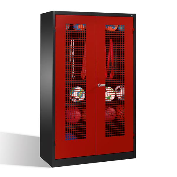 Geräteschrank Typ I DYNAMIK/FUN mit Lochblechtüren Maße: 195 x 120 x 50 cm