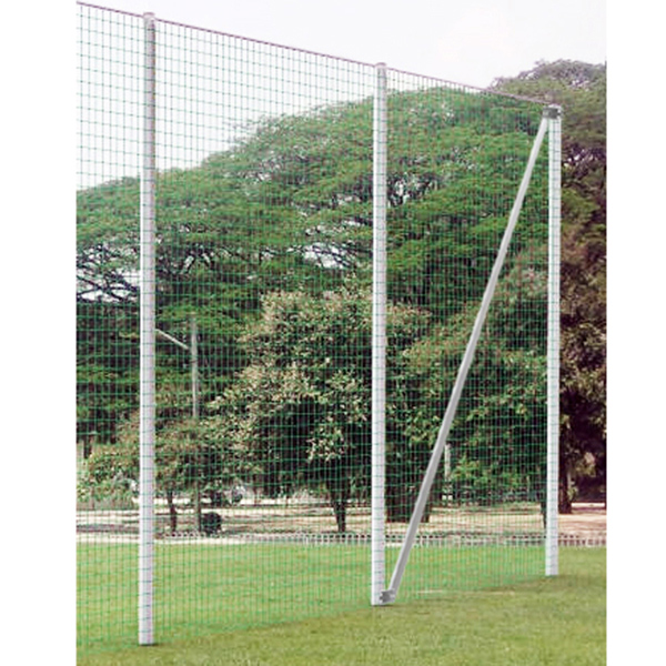 5,00 m Standpfosten inkl. Bodenhülse, für Ballfangzaun, Profil 120x100mm