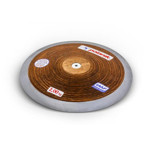 POLANIK Wettkampfdiskus HPD Holz 2,00 kg