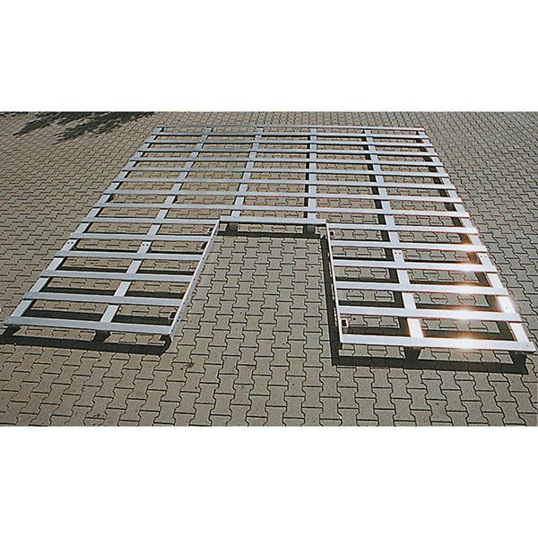 Lattenrost für Stabhochsprungkisen aus Holz, 6.500 x 5.000 x 100 mm