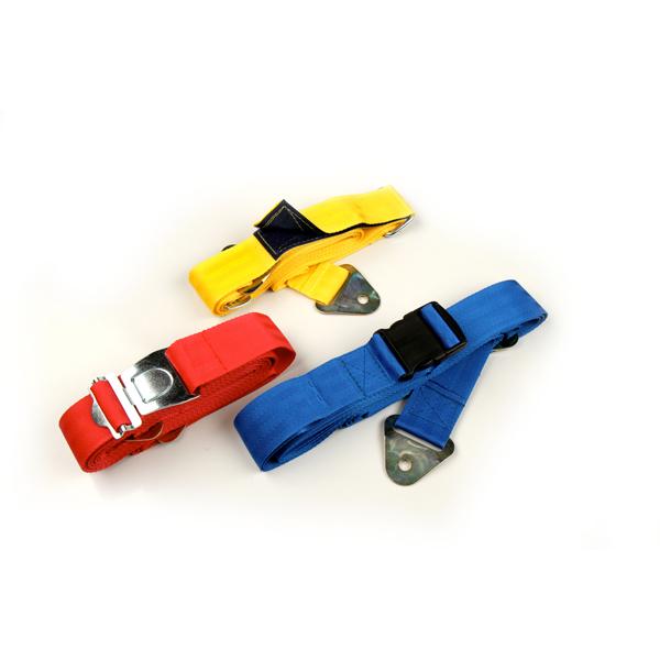 Spanngurt für Transportwagen, Farbe: blau, 5m lang, mit Kunststoffverschluss