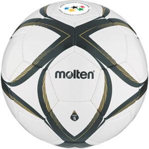 molten® Fußball SCHOOL MASTER, Größe 5, PU-Material, JTFO-Logo, weiß/schwarz/gold