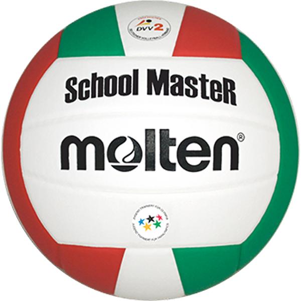 "molten® Volleyball ""School MasteR"" ,V5SMC, weiß/rot/grün, Größe 5, DVV 2, JTFO-Logo"