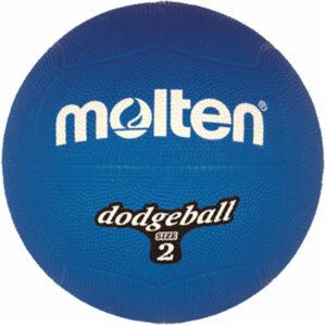 molten® Dodgeball / Völkerball, Gummi, Ø 20 cm, 310 g, blau