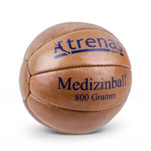 Leder Medizinball aus echtem Leder mit feuchtigkeitsresistentem Spezialgranulat - 800g