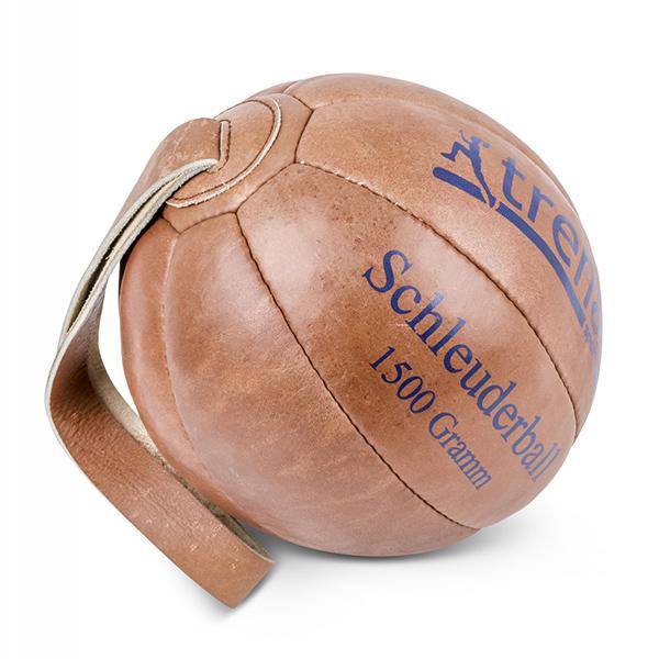 TRENAS Schleuderball aus Leder - 1500 Gramm