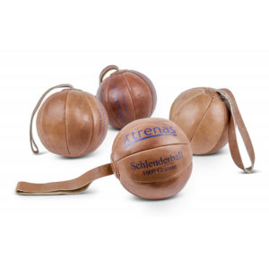 TRENAS Schleuderball aus Leder - 800 Gramm