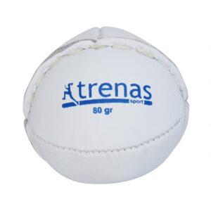 TRENAS Schlagball aus Leder - 80 Gramm - weiß