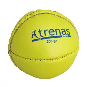 TRENAS Wurfball aus Leder - 200 Gramm - gelb