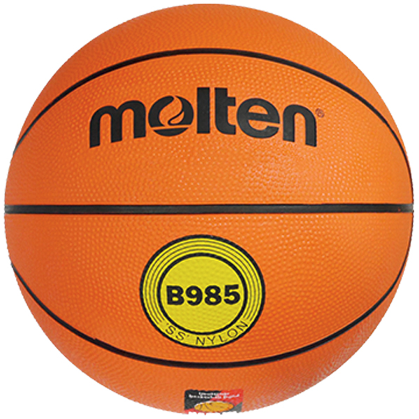 molten® Trainings-Basketball B985, DBB geprüft,FIBA geprüft, Größe 5