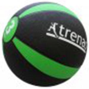 Medizinball aus Gummi, 3,0 kg, Ø 22 cm, schwarz-grün