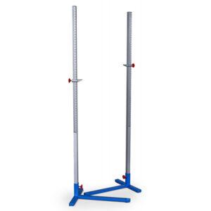 Hochsprungständer aus Aluminium, Länge 200cm, T-Fuß, Höhenverstellbar