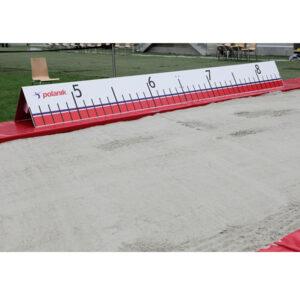 Weitenanzeige für Weitsprung aus Aluminium, Scala von 4,5m bis 8,5m