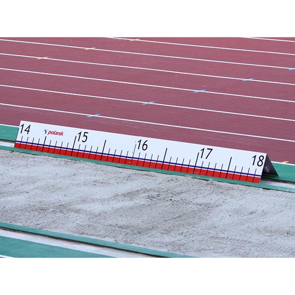 Weitenanzeige für Dreisprung aus Aluminium, Scala von 13,5m bis 17,5m
