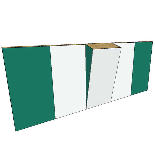 Boulderwand Bausatz Indoor Basic 4 mit Überhang