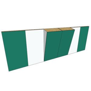 Boulderwand Bausatz Indoor Basic 6 mit breitem Überhang