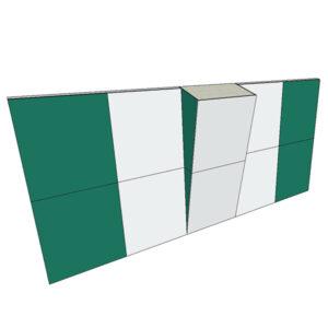Boulderwand Bausatz Indoor Basic 10 mit Überhang