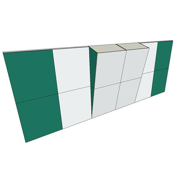 Boulderwand Bausatz Indoor Basic 12 mit breitem Überhang