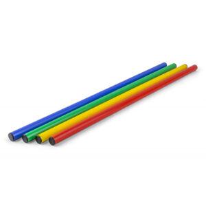 Turnstab, 100 cm lang, 25 mm Durchm., rot, blau, grün, gelb