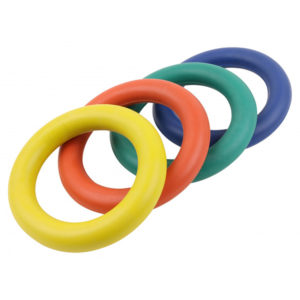 Turnier-Tennisring, Vollgummi, rot, blau, grün, gelb