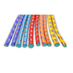 Gymnastik-Springseil, Länge 300 cm, ca. 9 mm stark, Farben rot, gelb, blau und orange