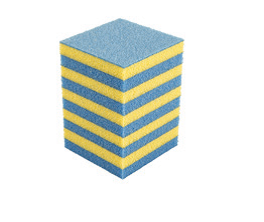 Dämpfungsklotz blau/gelb