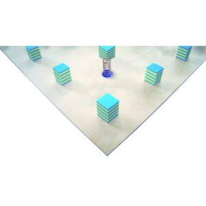 Bodenturnfläche mit Unterkonstruktion mit Stahlfedern