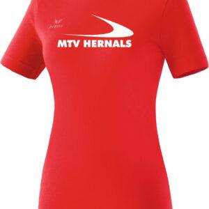 Damen Teamsport T-Shirt rot