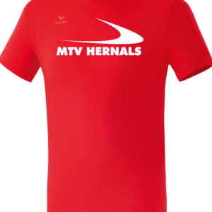 Herren/Kinder Teamsport T-Shirt rot