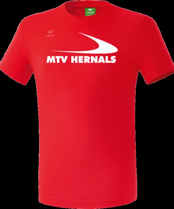 Herren/Kinder Teamsport T-Shirt rot