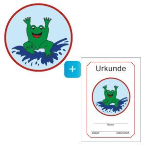 Frosch Schwimmabzeichen & Zeugnis im Set