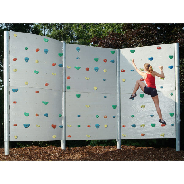 Freistehende Boulderwand Schieferplattenstruktur Länge 310 cm