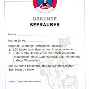 Urkunde Seeräuber