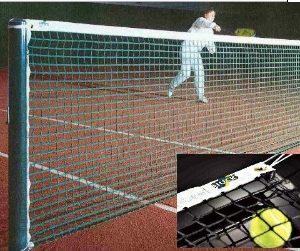 Tennisnetz, Polypropylen 4 mm, ringsum eingefaßt