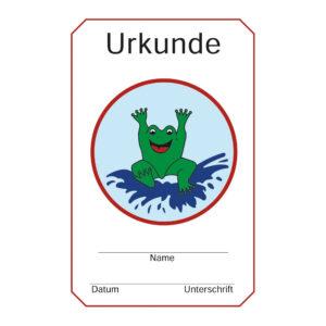 Urkunde Frosch