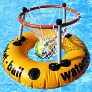 Wasserbasketballkorb mit Gummiring