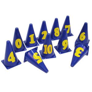 Markierungskegel mit Zahlen