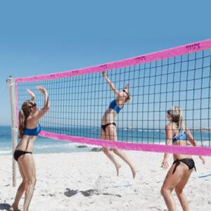 Beach-Volleyball Turniernetz mit DVV Prüfzeichen Beach