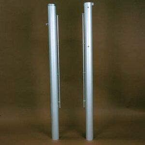 Tennispfosten, quadratisch (80 x 80 mm) oder rund (Ø 83 mm)